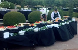 caterer at buffet table 1