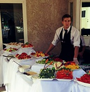 caterer at buffet table 3