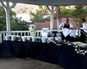 caterer at buffet table 4