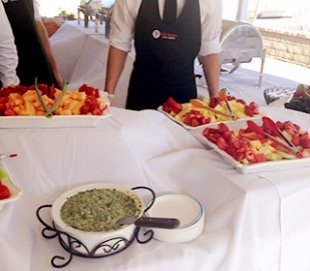 caterer at buffet table 5