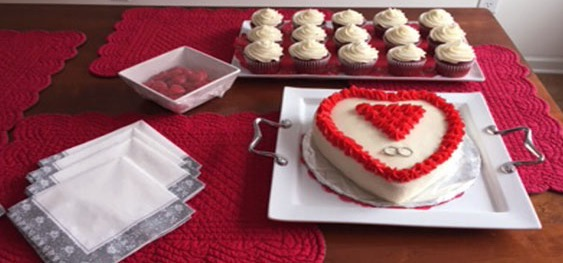 heart red desserts