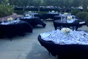 outdoor decorated tables